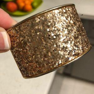 Jewelry - Gold sparkly bracelet cuff